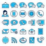 Reeks pictogrammen van de klantendienst Stock Fotografie