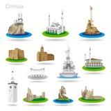 Reeks pictogrammen van de kleurenkrim Royalty-vrije Stock Afbeeldingen