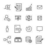 Reeks pictogrammen van de leidings dunne lijn Royalty-vrije Stock Afbeelding