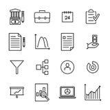 Reeks pictogrammen van de strategie dunne lijn Stock Afbeelding