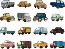 Reeks pictogrammen van de trandportauto Stock Foto's