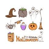 Reeks pictogrammen van Halloween vector illustratie