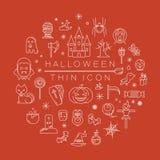 Reeks pictogrammen van Halloween Royalty-vrije Stock Afbeelding