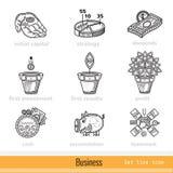 Reeks Pictogrammen van het Bedrijfsoverzichtsweb Royalty-vrije Stock Afbeelding