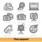 Reeks Pictogrammen van het het Overzichtsweb van het Fotomateriaal Stock Foto's