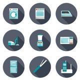 Reeks pictogrammen van huistoestellen Stock Foto's