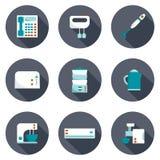 Reeks pictogrammen van huistoestellen Stock Foto