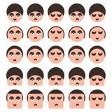Reeks pictogrammen van mensengezichten Royalty-vrije Stock Foto's