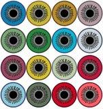 Reeks pictogrammen van verschillende oogkleuren rooster Royalty-vrije Stock Fotografie