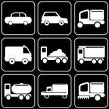 Reeks pictogrammen - Vervoer, reis, rust Stock Foto's