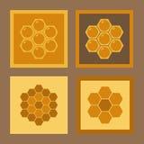Reeks pictogrammen voor de honingraat Stock Fotografie