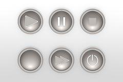 Reeks pictogrammen voor overzichten van het Web de vlakke ontwerp Stock Fotografie