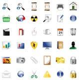 Reeks pictogrammen voor website Stock Afbeeldingen