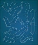 Reeks pijlen Vector Royalty-vrije Illustratie