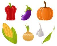 Reeks plantaardige pictogrammen Stock Foto