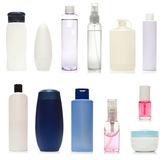 Reeks plastic flessen Royalty-vrije Stock Fotografie