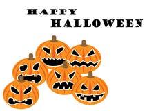 Reeks pompoenen voor Halloween stock illustratie