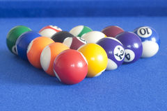 Reeks poolballen Royalty-vrije Stock Foto