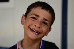 Reeks portretten van kinderen Syrische vluchtelingen Stock Foto