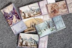 Reeks postzegels van de Oekraïne Significante plaatsen Begin van de 21ste eeuw royalty-vrije stock foto
