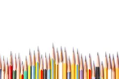 Reeks potloden Stock Afbeeldingen