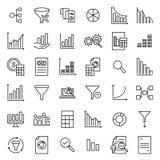 Reeks premie analitische pictogrammen in lijnstijl Royalty-vrije Stock Afbeelding