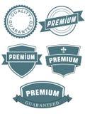 Reeks premieverbindingen of etiketten Royalty-vrije Stock Afbeelding