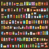 Reeks producten supermarkt Voedsel royalty-vrije illustratie