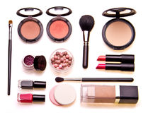 Reeks professionele schoonheidsmiddelen Stock Afbeeldingen
