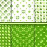Reeks punt vector naadloze patronen royalty-vrije illustratie