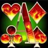 Reeks punten van het casino Stock Afbeelding