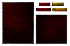 Reeks realistische rubby interfaceelementen Stock Afbeelding