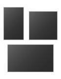 Reeks realistische vectorfotokaders Stock Afbeeldingen