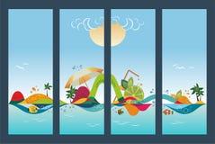Reeks reisbanners, vectorillustratie stock illustratie