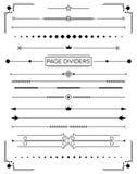 Reeks Retro Decoratieve Paginaverdelers en Ontwerpelementen stock illustratie