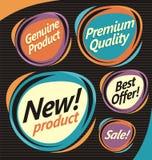Reeks retro etiketten Stock Afbeelding