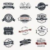 Reeks retro stickers en linten - Stock Foto