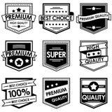 Reeks retro uitstekende kentekens en etiketten Royalty-vrije Stock Afbeelding
