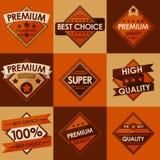 Reeks retro uitstekende kentekens en etiketten. Vlakke Stijl Royalty-vrije Stock Afbeeldingen
