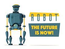 Reeks robots Technologie, toekomst De vectorillustratie van het beeldverhaal Royalty-vrije Stock Afbeelding