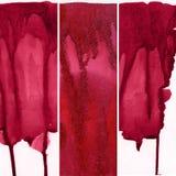 Reeks rode waterverfachtergronden Royalty-vrije Stock Afbeelding