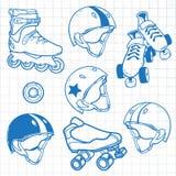 Reeks rolschaatsen Royalty-vrije Stock Afbeeldingen