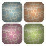 Reeks Rond gemaakte Vierkante Pictogrammen van de Vlekken van de Pastelkleur Stock Afbeelding