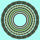 Reeks ronde geometrische kaders, cirkelgrens Royalty-vrije Stock Foto
