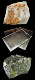 Reeks rotsen en mineralen â6 Stock Afbeeldingen