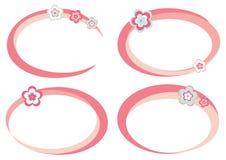 Reeks roze frames Stock Afbeeldingen