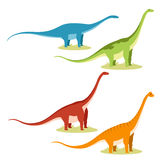 Reeks sauropods Stock Foto's