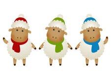 Reeks schapen Royalty-vrije Stock Foto