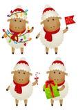 Reeks schapen Royalty-vrije Stock Afbeeldingen