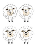 Reeks schapen Stock Afbeelding